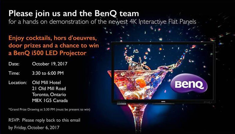 Please join us and the BenQ team